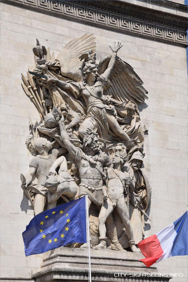 Arc de Triomphe, Paris, Frankreich, France, Sehenswürdigkeit, Sights, Sightseeing